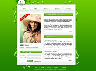 Green Design Studio PSD Template