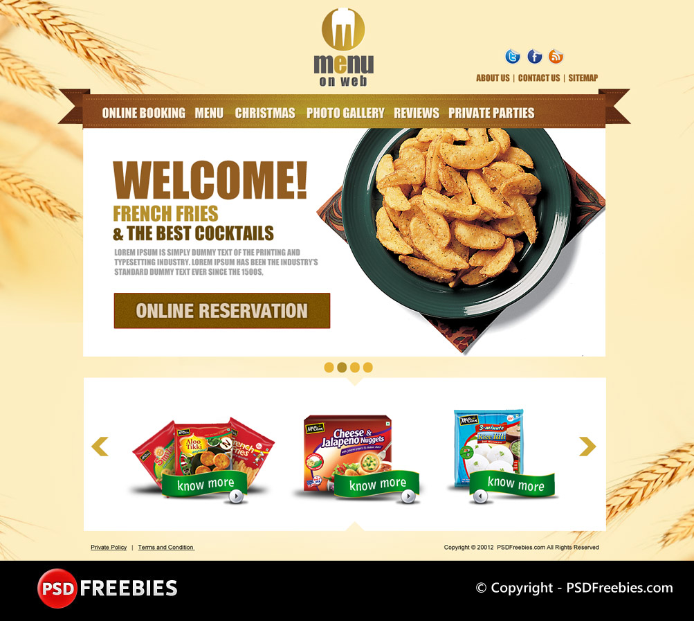 Restaurant Menu Free PSD Template – Free Food Menu Template
