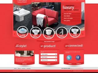 Luxus Luxury Brand PSD Template