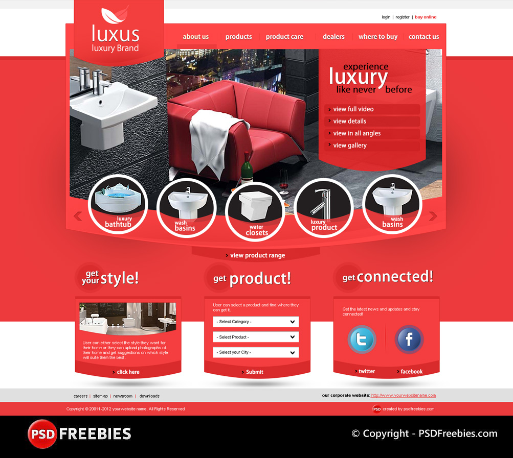 Luxus Luxury Brand PSD Template