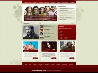 Entertainment Live Template PSD
