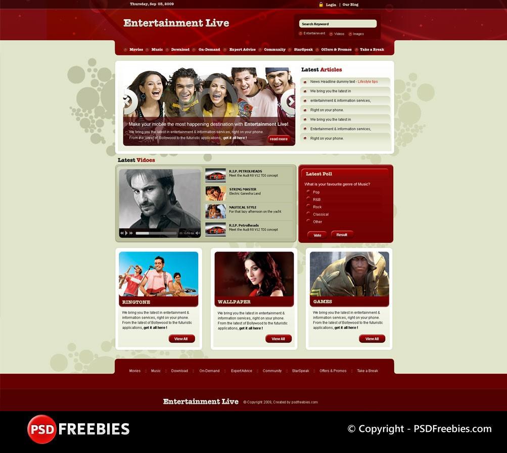 Entertainment-Live-Template-PSD