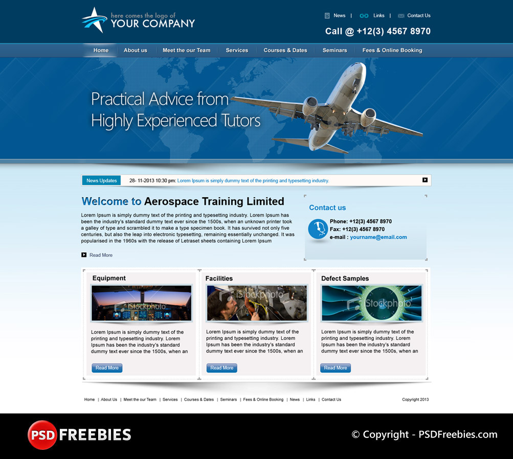 Flight Training Programs PSD Template