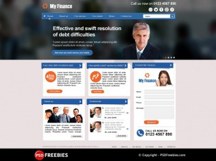 My Finance Business Corporate PSD Theme