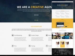 Creative Agency Portfolio PSD Template