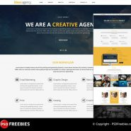 Creative Agency Portfolio PSD Template