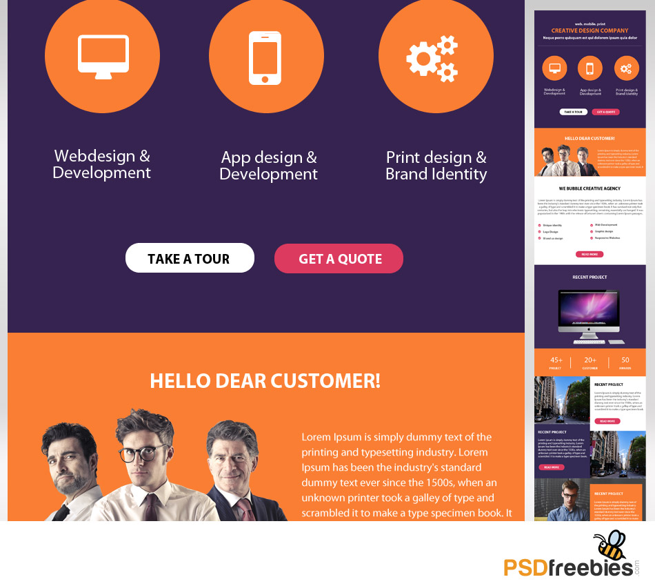 Corporate Emailer Free Psd Template Psdfreebies Com