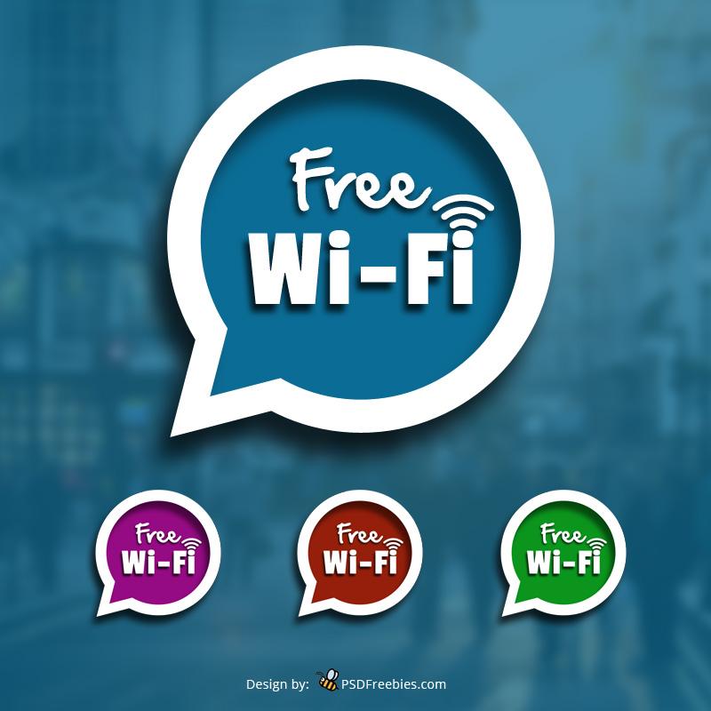 Free-wifi-Sign-PSD