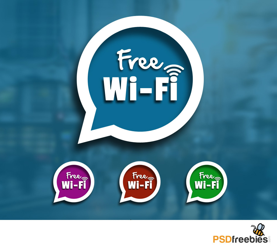 Speech Bubble With Free Wifi Sign Psd Psdfreebies Com