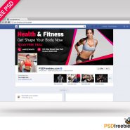 Health and Fitness facebook cover PSD