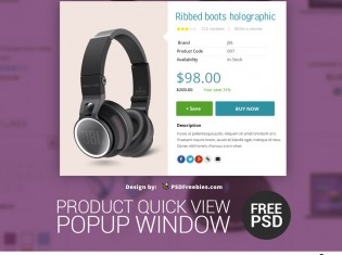 Product Quick View Popup Window PSD