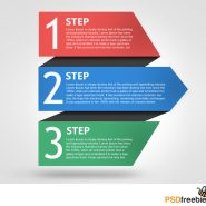 Free Progress Template with Numbers PSD