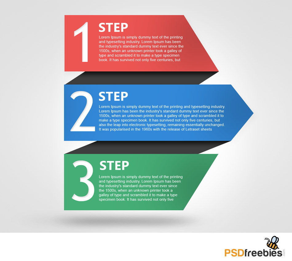 free progress template with numbers psd psdfreebies com