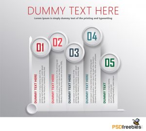 Stats Infographic Element PSD