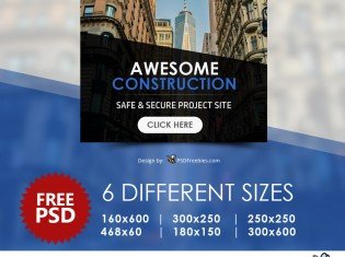 Awesome Construction Ads Banners PSD
