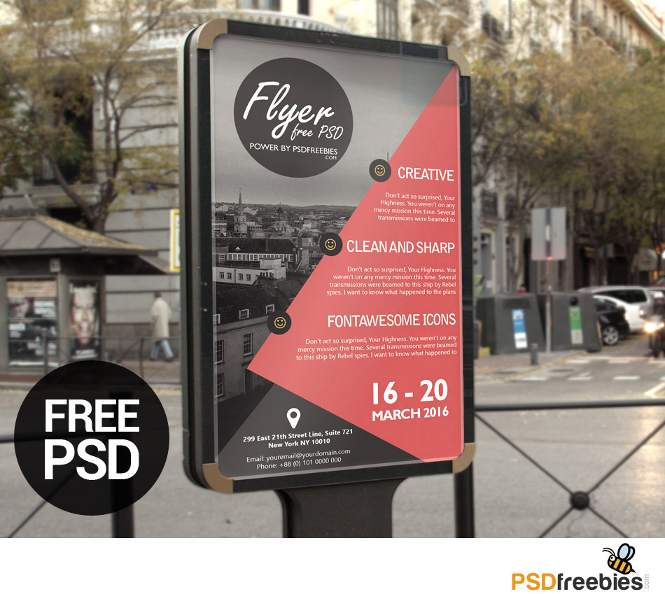 Business Advertisement poster or Flyer Template PSD – Advertising Poster Templates