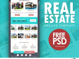 Real Estate E-mailer Template PSD