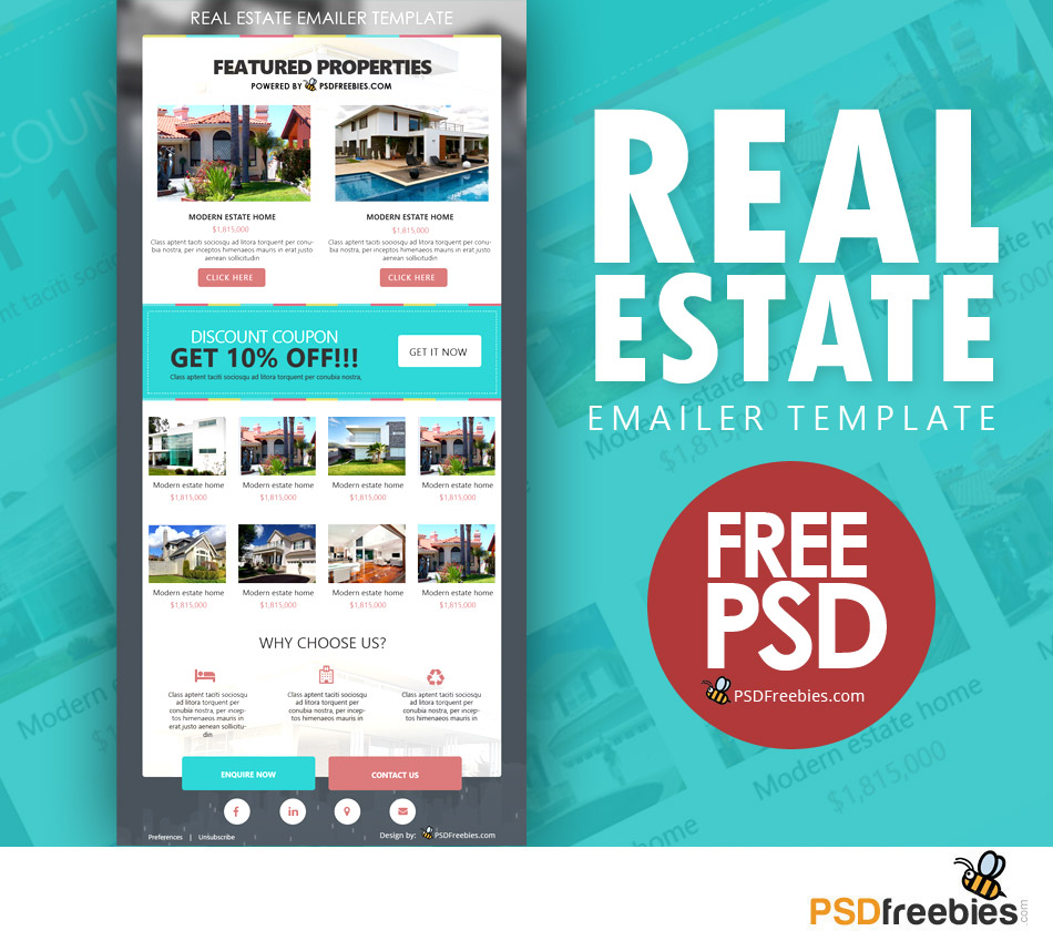 Real Estate Emailer Template Image