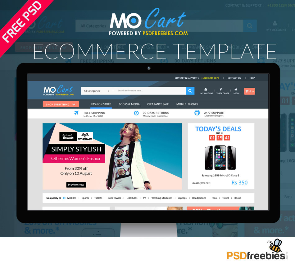 Mocart Ecommers PSD Template 1
