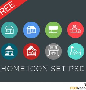 Home Icon set PSD