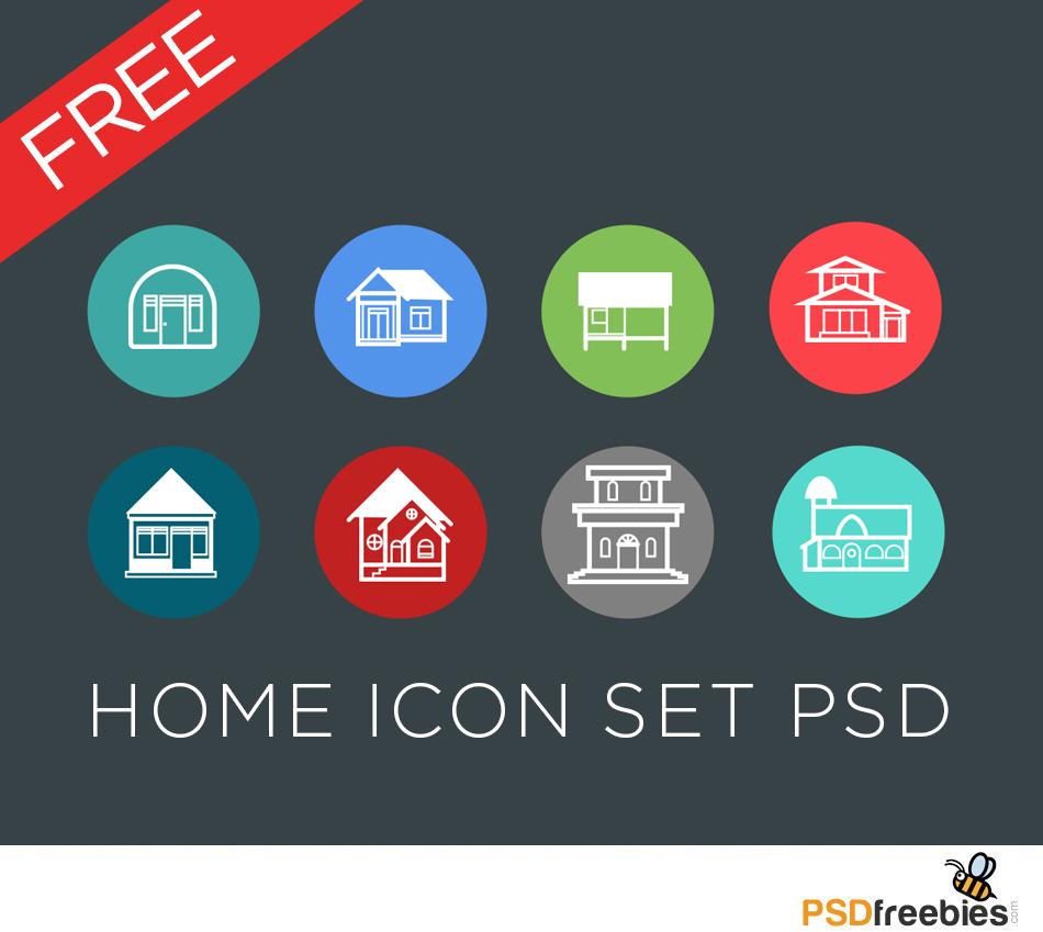 Home Icon Set PSD