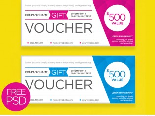 Clean And Modern Gift Voucher Template PSD