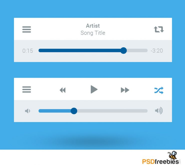 Media Player UI interface PSD