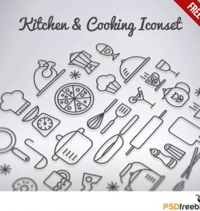 Kitchen & Cooking Iconset Free PSD