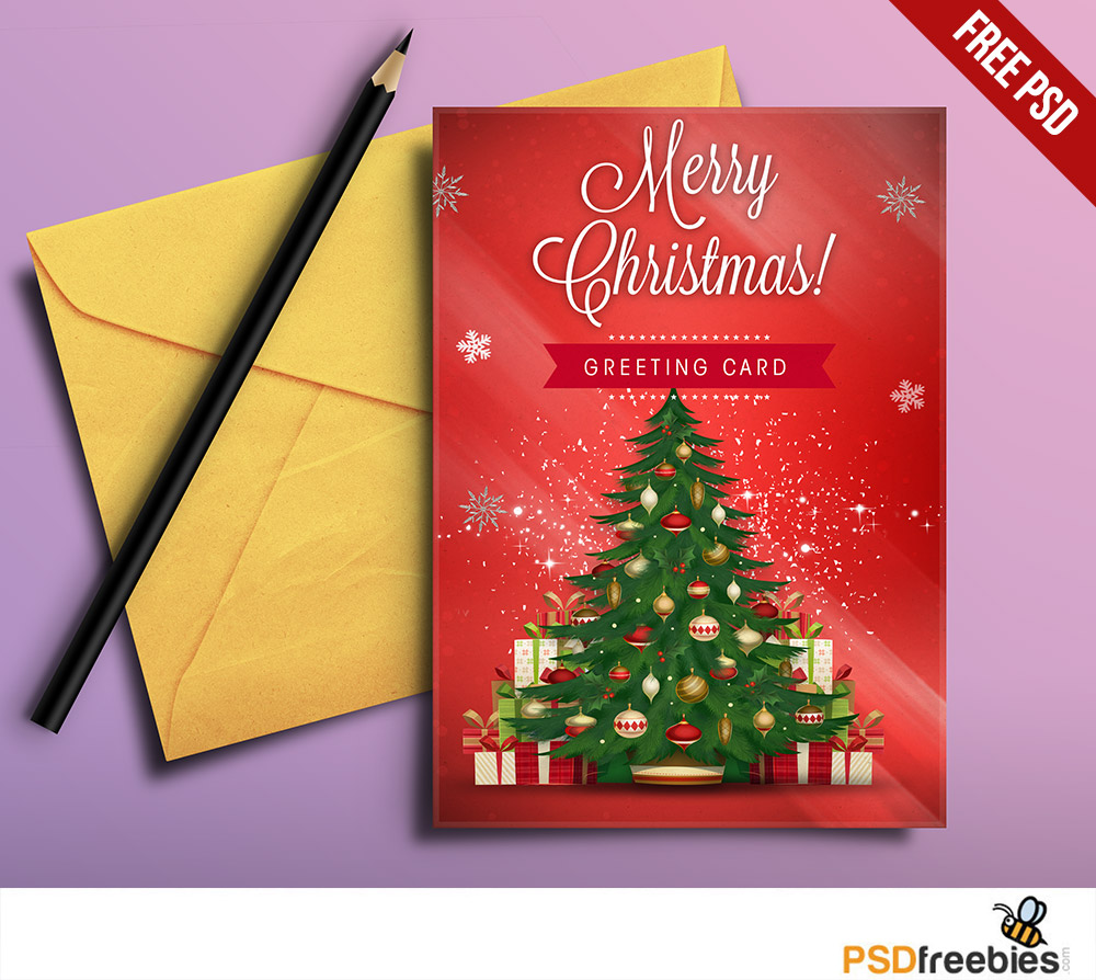 Free Christmas Card Templates.Christmas Greeting Card Free Psd Psdfreebies Com
