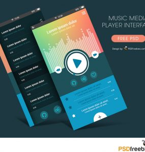 Music Media Player App Interface Free PSD