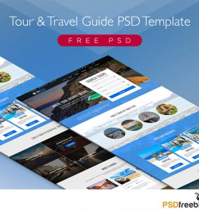 Free Tour and Travel Guide PSD Template