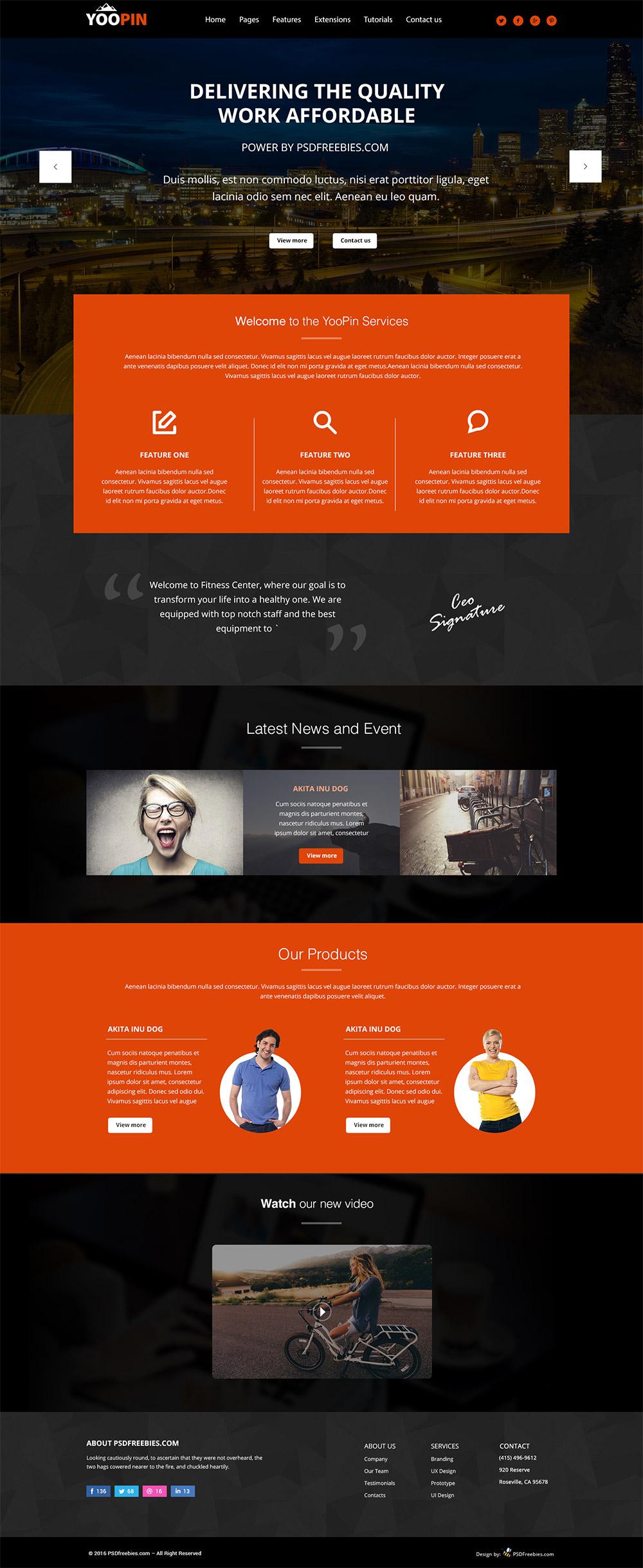 YooPin-Multipurpose-Modern-Website-Template-Free-PSD-Preview