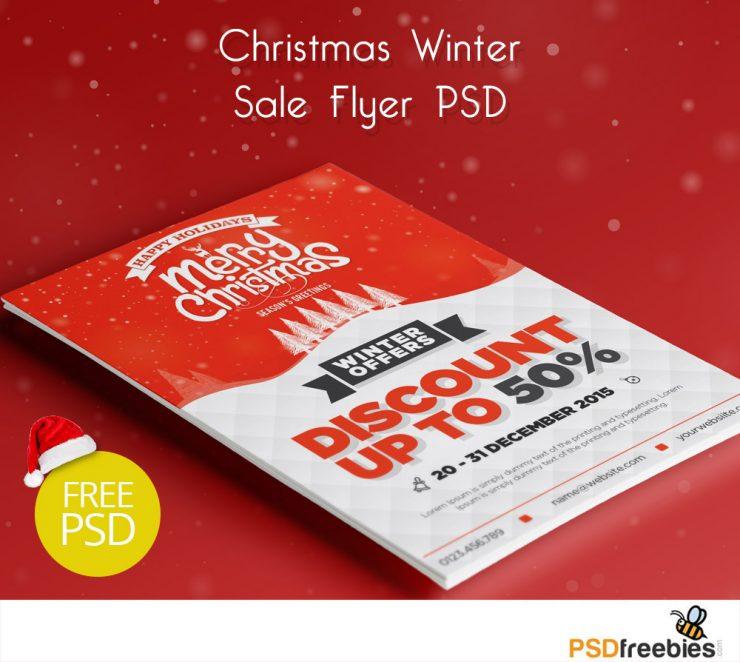 Christmas Winter Sale Flyer PSD Freebie