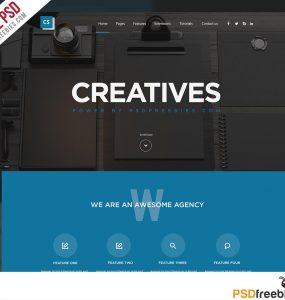 Creative Digital Agencies Website Templates Free PSD Set