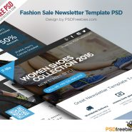 Fashion Sale Newsletter Free Template PSD