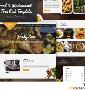 Food and Restaurant Free PSD Template