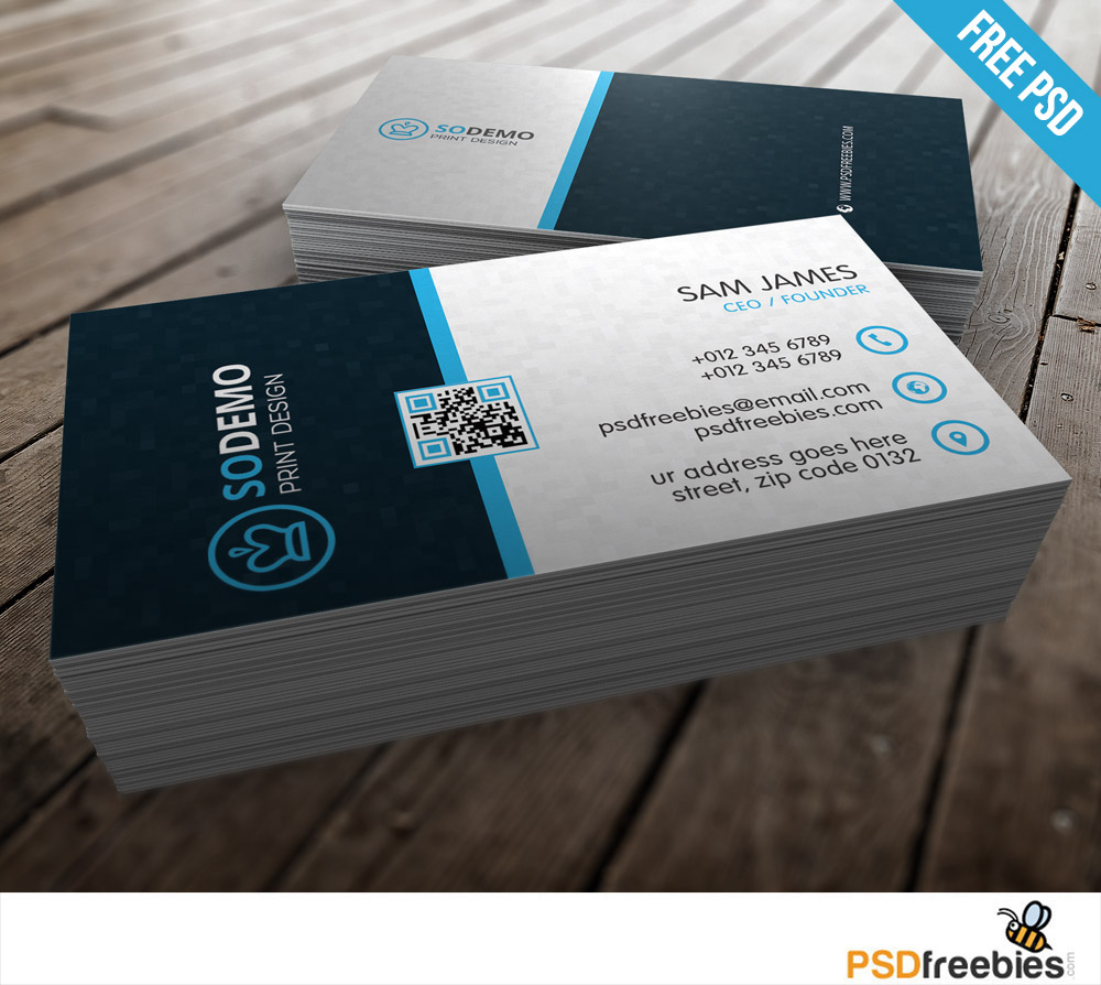 Modern Corporate Business Card Free PSD