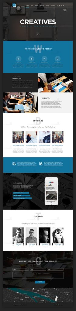 Creative Digital Agencies Website Templates Free PSD Set