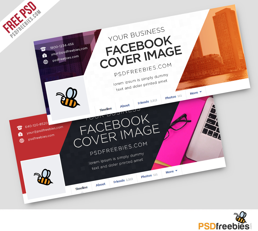 Corporate facebook covers free psd template psdfreebies for Cover pages designs templates free