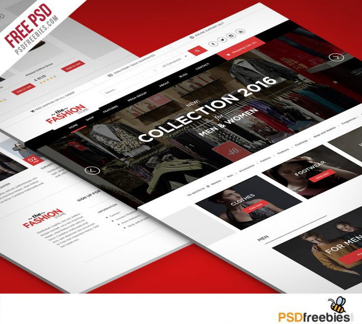 Multipurpose eCommerce Website free PSD Template