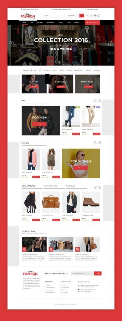 Multipurpose eCommerce Website free PSD Template