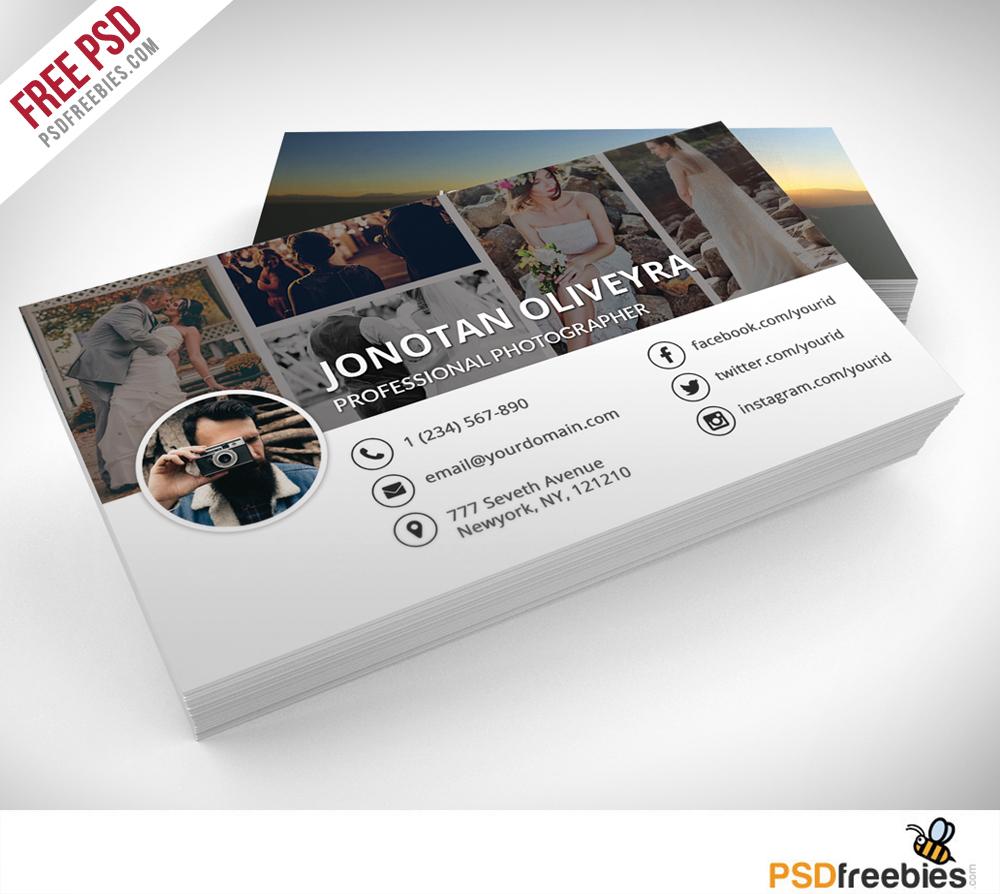 Professional Photographer Business Card PSD Template Freebie ZKwXxi8m