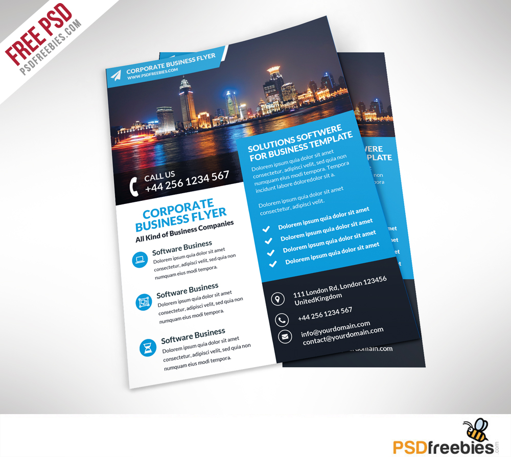 Corporate business flyer free psd template psdfreebies corporate business flyer free psd template wajeb Gallery
