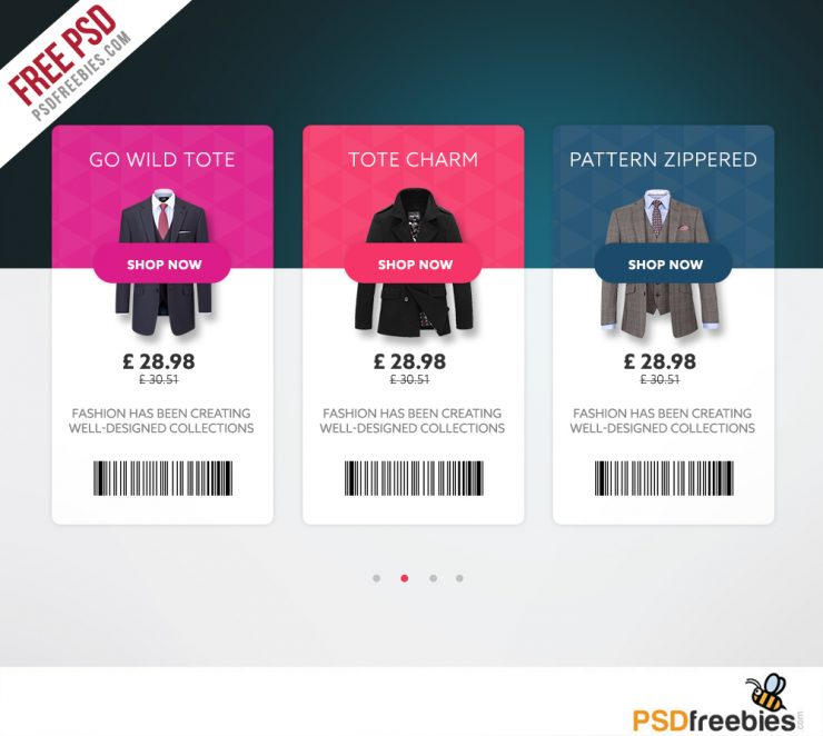 Ecommerce Product View Card Free UI PSD