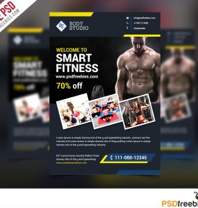 Fitness Flyer template Free PSD
