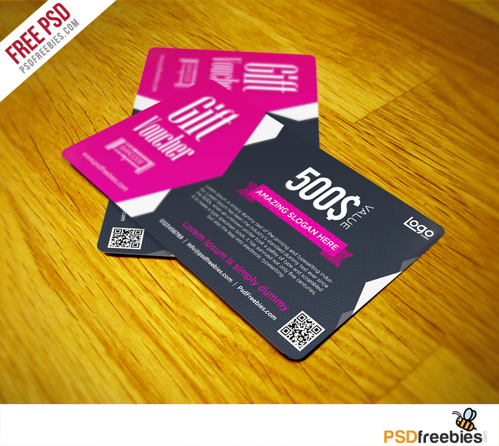 Clean and Modern Gift voucher template PSD - PSDFreebies.com ...
