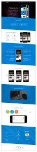 One Page App Landing Free PSD Template