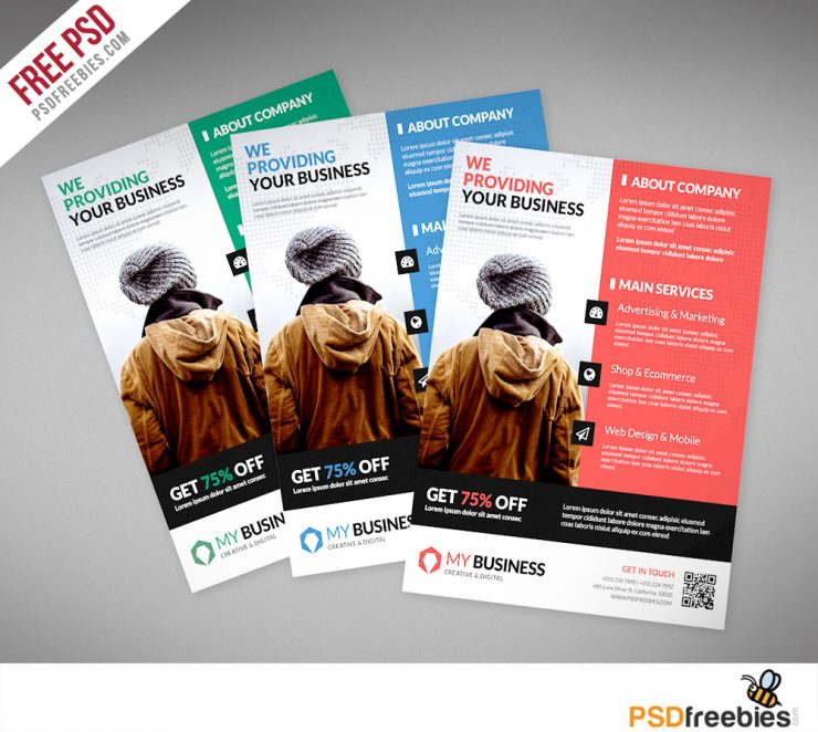 Corporate Business Flyer PSD Template Freebie