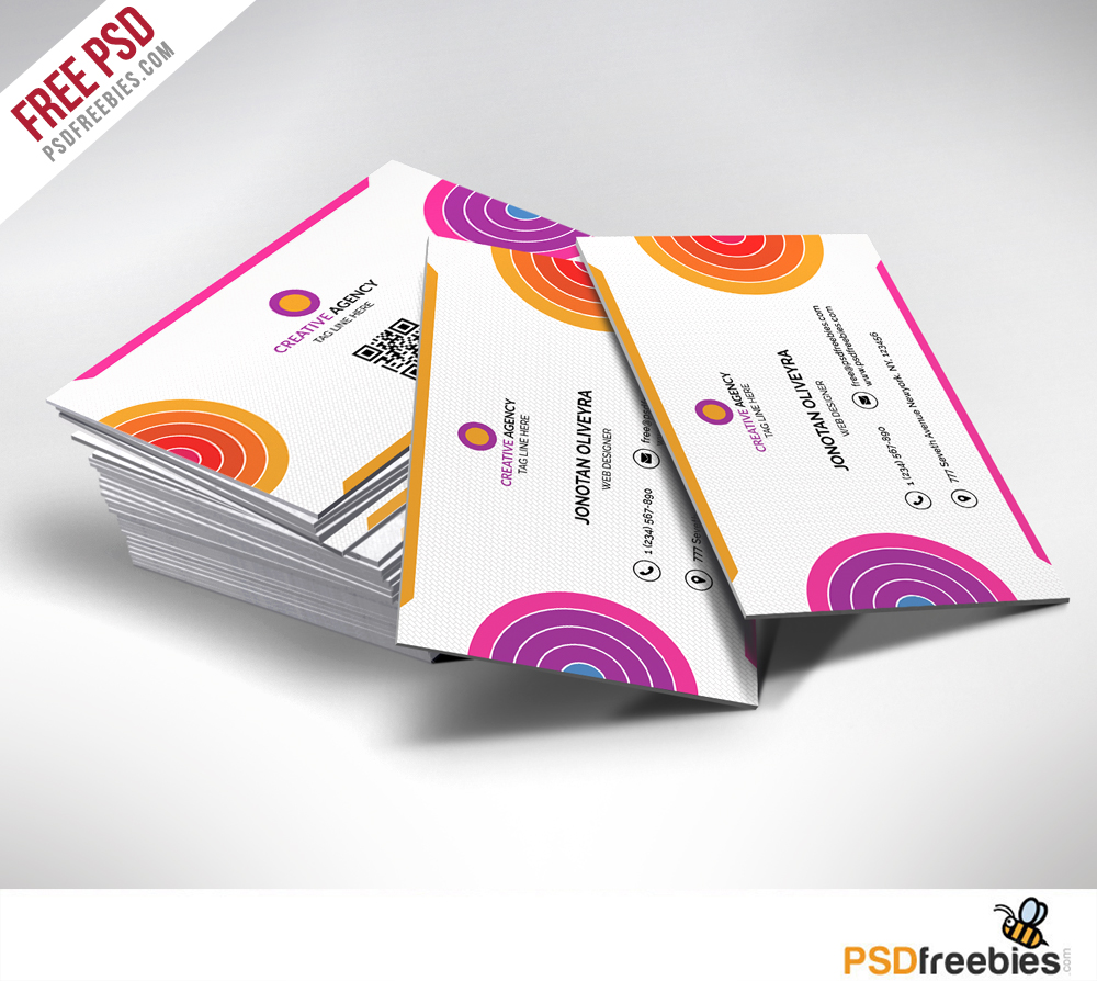 Creative And Colorful Business Card Free Psd Psdfreebies