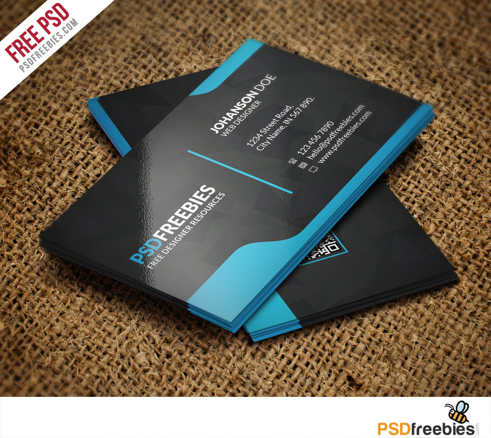 Graphic designer business card template free psd for Business card photoshop template psd